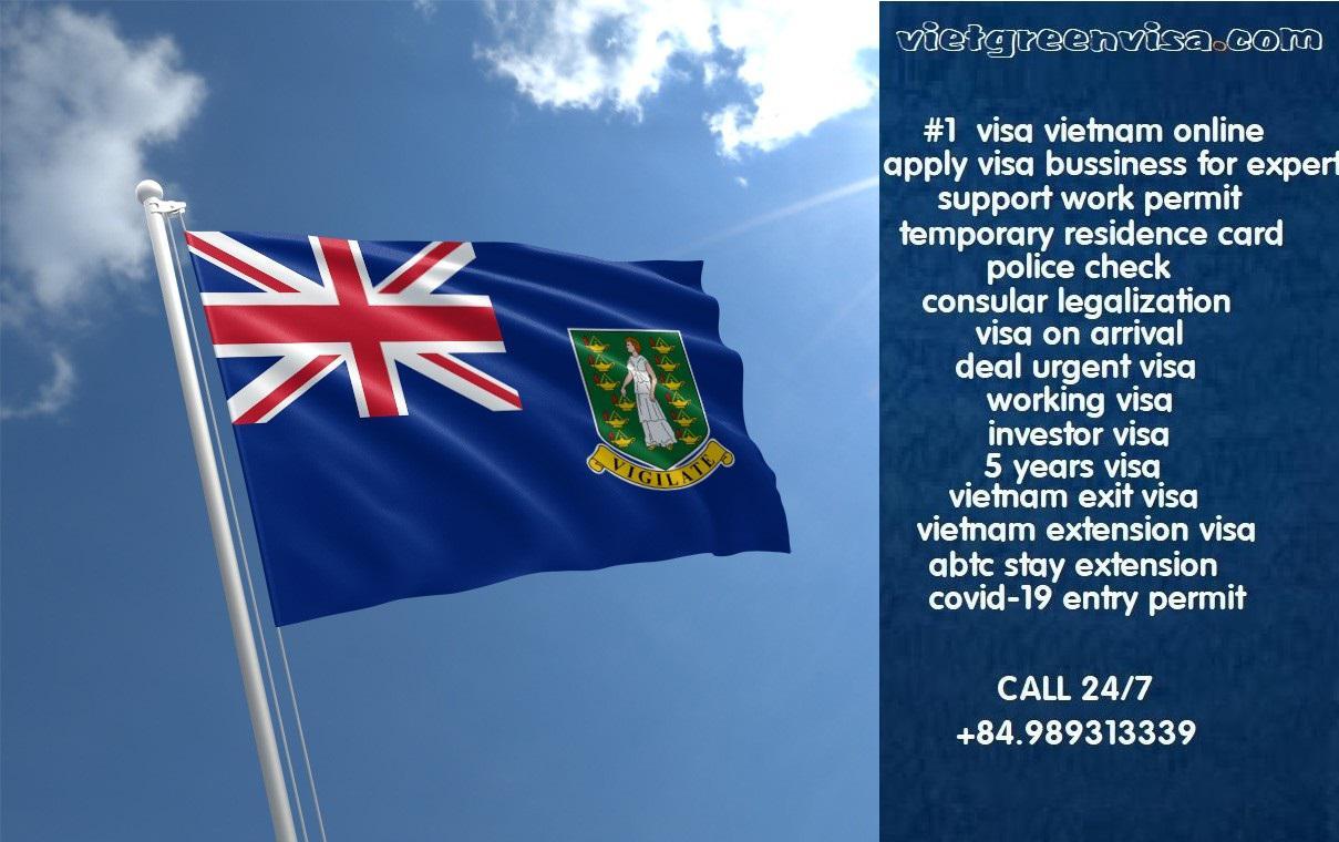Vietnam Visa for Virgin Islands, British Citizens